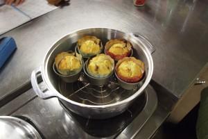 無水鍋で作ったマフィン